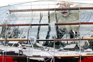 Żołnierze Wyklęci i bestia Związku Radzieckiego na nowym muralu