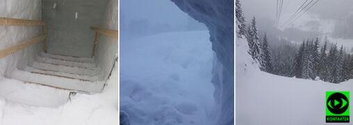 Niebezpiecznie w górach. Głębokie zaspy, zawieje śnieżne i możliwość zejścia lawin