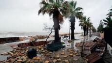 Sztorm Gloria w Hiszpanii (Domenech Castello/PAP/EPA)