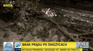 PGE: Bez prądu poand 60 tys. ludzi (TVN24)