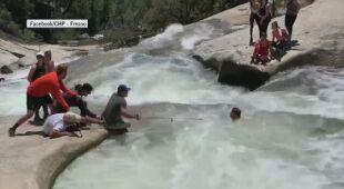 Mężczyzna wpadł do wiru wodnego w Sierra Forest